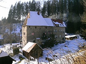 Fortified house - Schloss Hart by the Harter Graben near Kindberg, Austria