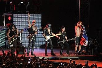 Scorpions (band) - Image: Scorpions live 2010