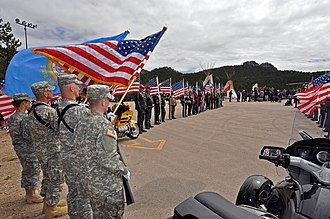 Crazy Horse Memorial -  Welcome ceremony for the UH-72A Lakota Light Utility Helicopter