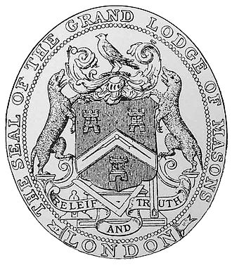 Premier Grand Lodge of England - Image: Seal of the Moderns Grand Lodge