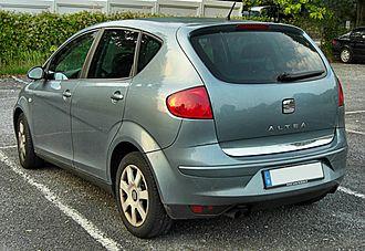 SEAT Altea - Image: Seat Altea rear 20090919