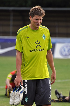 Sebastian Prödl - Prödl in training during his time at Werder Bremen
