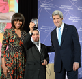 Secretary Kerry and First Lady Michelle Obama Recognize 2nd Lt. Malalai Bahaduri of Afghanistan - 2013 International Women of Courage Award Winner.png