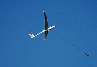 Gliding - A DG1000 being winch-launched