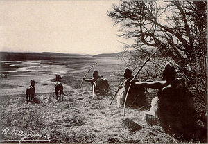 Tierra del Fuego - Selknam men hunting