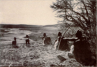 Tierra del Fuego - Selk'nam men hunting