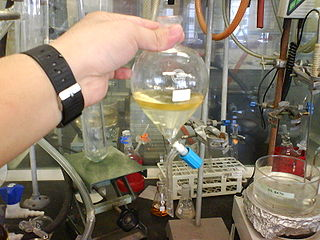 Extraction (chemistry) chemical separation of a substance from a matrix