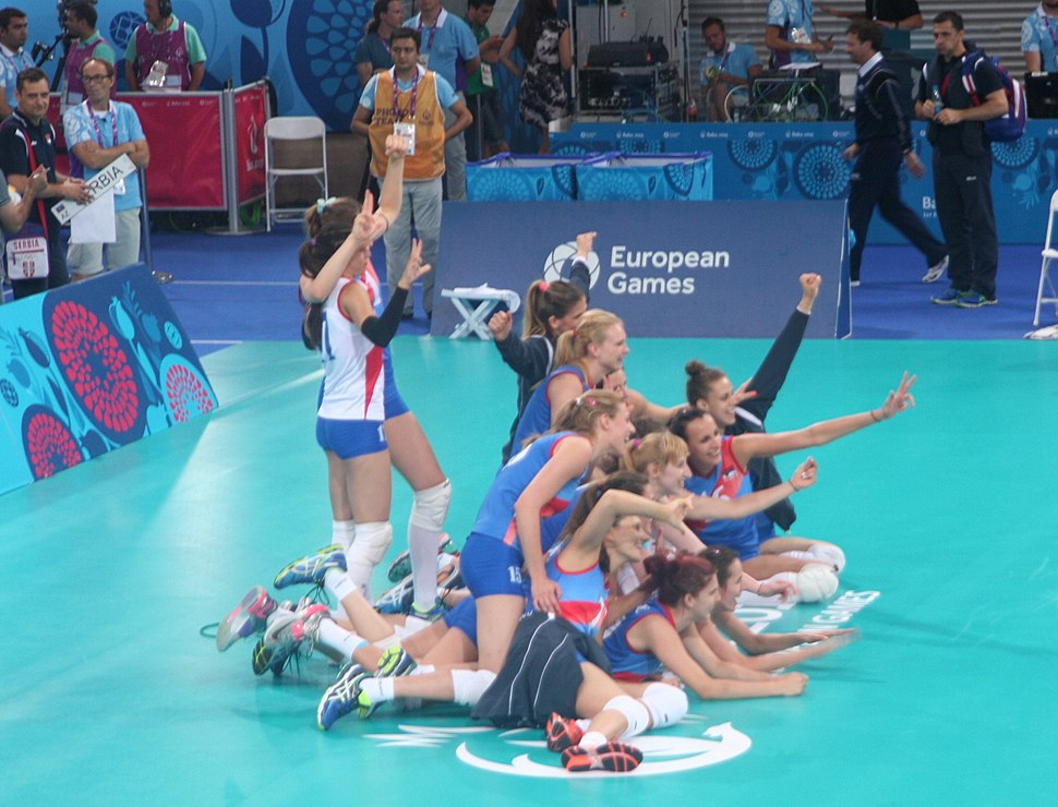 Serbia women's volleyball are the bronze medalists of the 2015 European Games