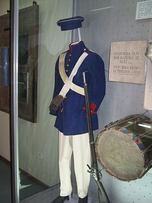 History of the Serbian Army - Infantry uniform in 1845
