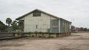 Seymour railway station - The Good shed at Seymour in July 2008