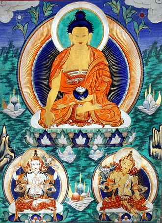 Temple of Great Compassion - A thanka painting of Sakyamuni
