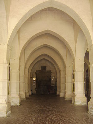 Sixty Dome Mosque - inside view