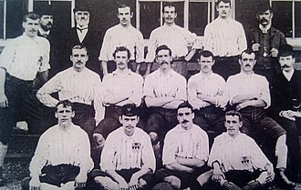 42cd4454c62c45 United squad from the 1890–91 season. Pictured are: [rear] Harry