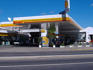 Compressed natural gas - CNG station in Rosario, Argentina.