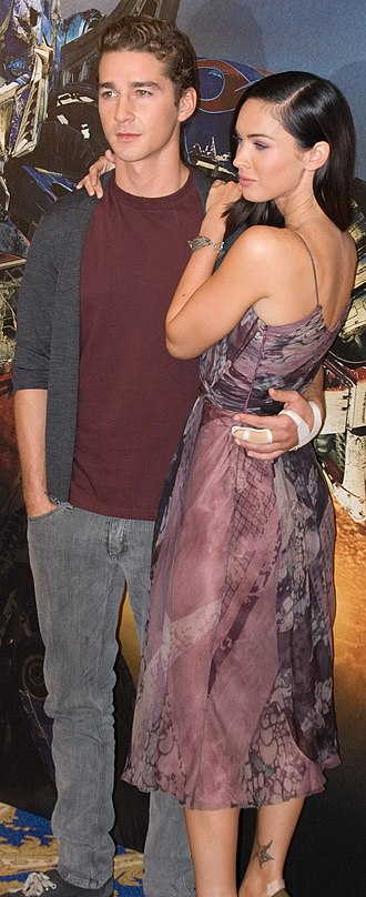 Shia LaBeouf - LaBeouf with co-star Megan Fox at the Transformers press conference in Paris in June 2009