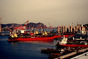 Ships in Busan