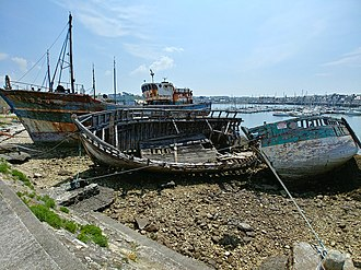 Ship graveyard - Shipwrecks in Camaret-sur-Mer