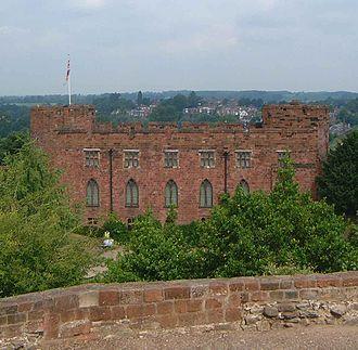 Shrewsbury Castle - Shrewsbury Castle viewed from Laura's Tower