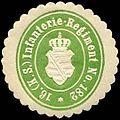 Siegelmarke 16. Königlich Sächsische Infanterie - Regiment No. 182 W0237770.jpg
