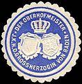 Siegelmarke Der Oberhofmeister - Ihrer Königlichen Hoheit der Grossherzogin von Baden W0225889.jpg