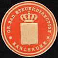 Siegelmarke Grossherzoglich Badische Steuerdirection - Karlsruhe W0232875.jpg