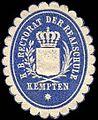Siegelmarke Königlich Bayerische Rectorat der Realschule Kempten W0235127.jpg