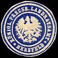 Siegelmarke Königlich Preussiches Landratsamt - Hersfeld W0235773.jpg