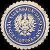 Siegelmarke Königliche Eisenbahn - Direction - Altona W0220953.jpg