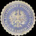 Siegelmarke K.Pr. Standesamt Bojanowo Stadt Kr. Kroben W0333413.jpg