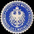 Siegelmarke Kaiserliche Marine - Kommando der I. Marine-Division W0255287.jpg