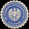 Siegelmarke Kgl. Eisenbahn Betriebsinspection 1 in Harburg W0325796.jpg