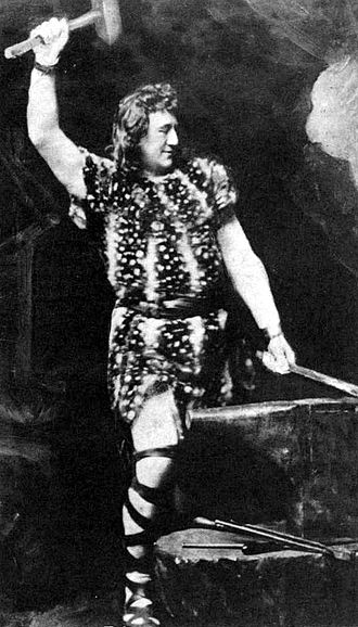 History of music - The title character from a 19th-century performance of Wagner's opera Siegfried