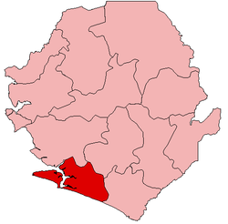 Location of Bonthe District