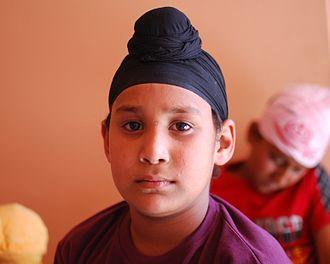 Dastar - A Sikh boy wearing a patka