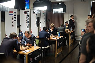 The Sinquefield Cup chess tournament is hosted annually in St. Louis SinquefieldCup2015.jpg