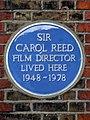 Sir Carol Reed film director lived here 1948-1978.jpg