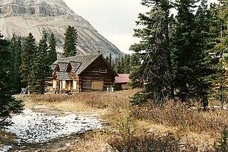 Skoki Ski Lodge building in Alberta, Canada