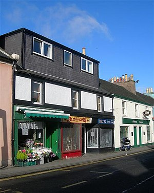 Small business - Small businesses on Dalrymple Street in Greenock, Scotland