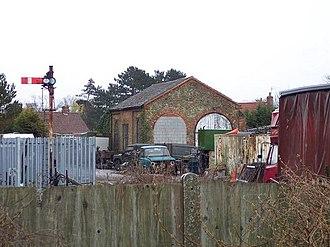 Snettisham railway station - Engine shed in 2006.