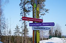Snezhinka Ski Center direction sign.jpg