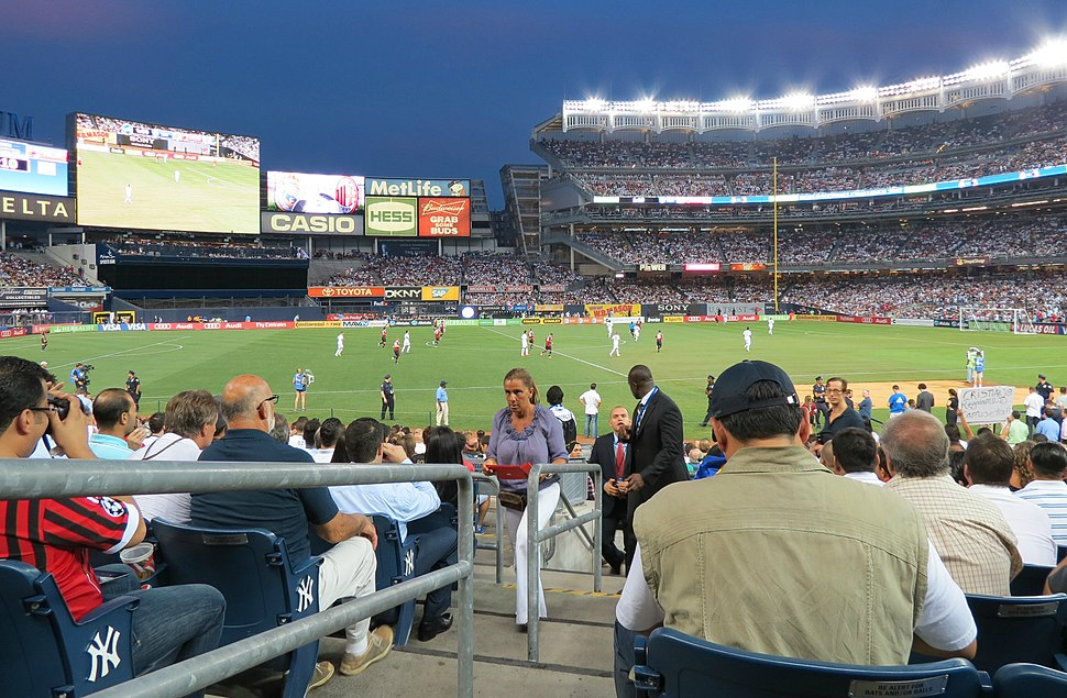 Soccer at Yankee Stadium, August 2012