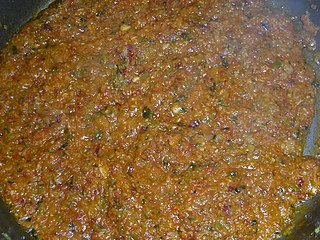 <i>Sofrito</i> sauce used as a base in Latin American, Spanish, Italian, and Portuguese cooking