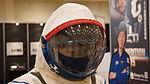 Sokol-KV-2 space suit(K.WAKATA) helmet at Kobe International Conference Center 20150704.JPG