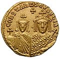 Solidus-Basil I with Constantine and Eudoxia-sb1703 detail.jpg