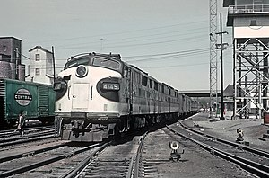 Royal Palm (train) - The Royal Palm at Danville, KY station on April 11, 1963.