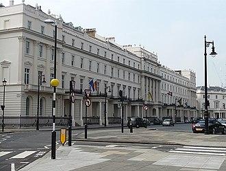 Belgrave Square - Typical buildings in Belgrave Square