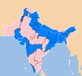 South Asia subdivisions flood hit between July 3 and August 15 2007.png