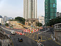 South Island Line construction site between the junction of Ap Lei Chau Bridge Road and Ap Lei Chau Drive in September 2015.jpg