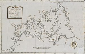 Mindanao - An old Spanish map of Mindanao island.
