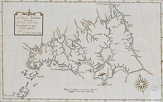 Surigao City - Surigao town as shown on a historical Mindanao map